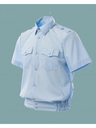 Рубашка Полиции голубая с коротким рукавом мужская