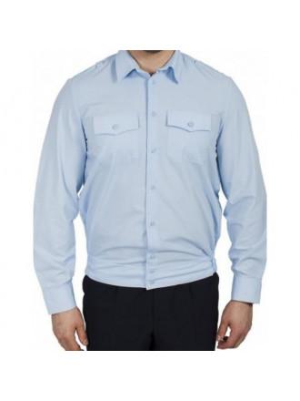 Рубашка Полиции голубая с длинным рукавом мужская