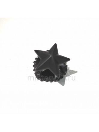 Звезда на Погоны Полиамидная 13 мм Черная