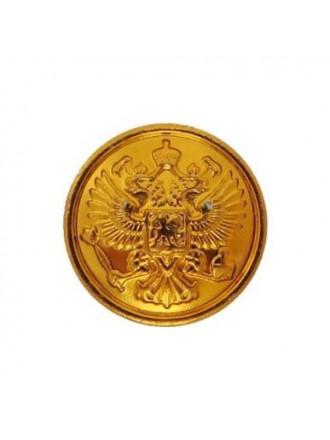 Пуговица 14 мм Орел РФ Золотая Пластмассовая