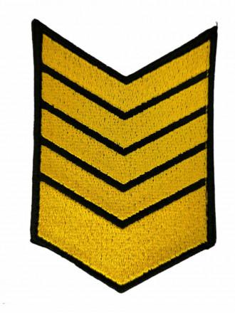 Нашивки Вышитые (Черный Фон, Желтая Вышивка) для Контрактников 9 Год на Липучке