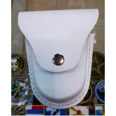 Чехол под наручники белый кожаный формованный