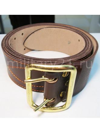 Ремень портупея офицерский коричневый латунная пряжка