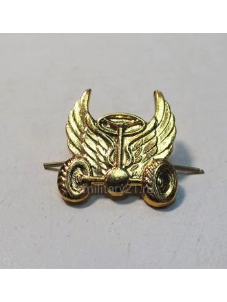 Эмблема петличная Автомобильные войска нового образца золотая