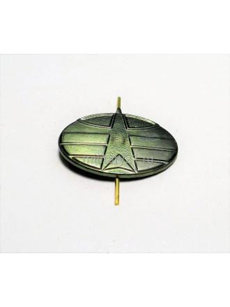 Эмблема петличная Космические войска нового образца защитная