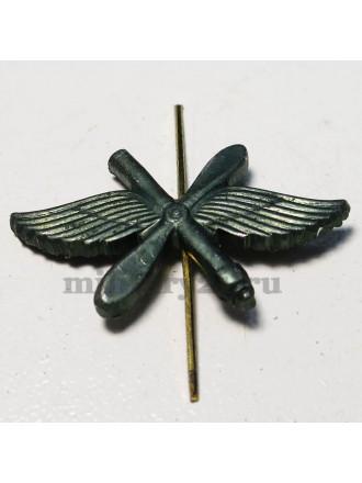 Эмблема петличная ВВС защитного цвета