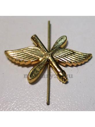 Эмблема петличная ВВС золото