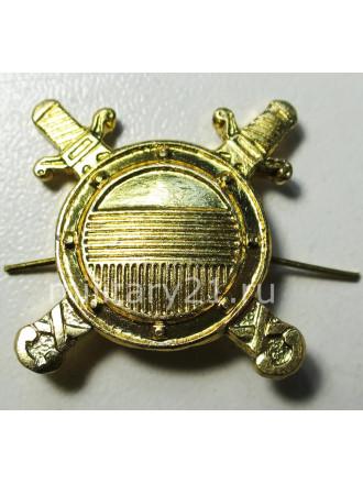 Эмблема петличная МВД внутренная служба золото