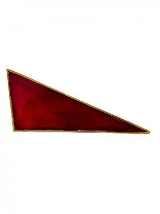 Флажок на Берет Неуставной (Уголок) Металл Красный Малый