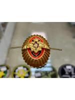 Кокарда ПВ офицерский состав (рифленая) золотая