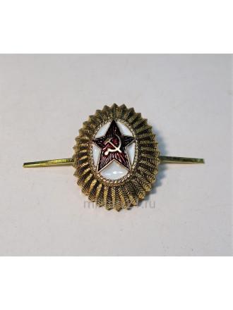 Кокарда СА офицерская малая золотая