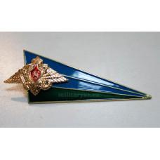 Уголок ВДВ на берет флаг с Орлом РФ