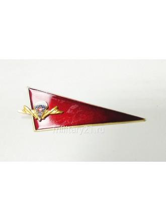 Уголок на Берет ВДВ Красный Эмблема ВДВ Цветная