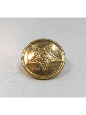 Пуговица СА 22 мм Золотая Металл