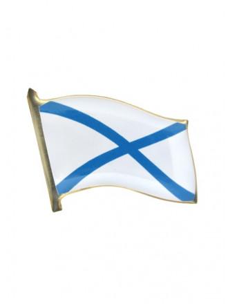 Фрачник Флажок ВМФ Андреевский Флаг Заливка Смолой на Пимсе
