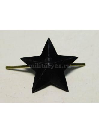 Звезда на Погоны Черная ФСИН 20 мм Металл