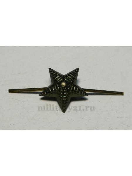 Звезда на Погоны 13 мм Рифленая Защитная Металл МО Росгвардия