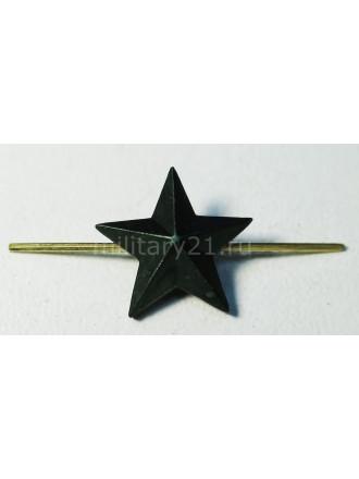 Звезда 13 мм на Погоны Защитного Цвета Металл
