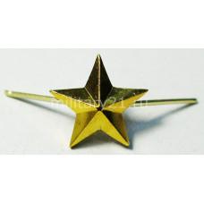 Звезда 13 мм на погоны золотая