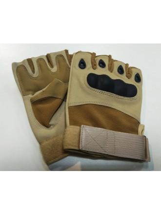 Перчатки Oakley Тактические Усиленные Беспалые Койот
