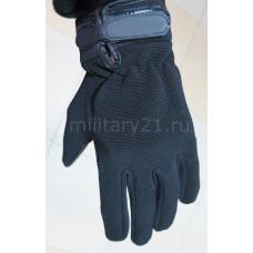 Перчатки тактические черные прорезиненные