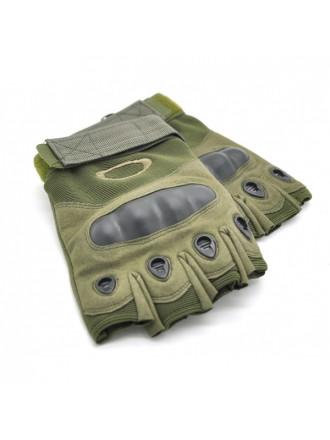 Перчатки Oakley Тактические без Пальцев Усиленные Олива