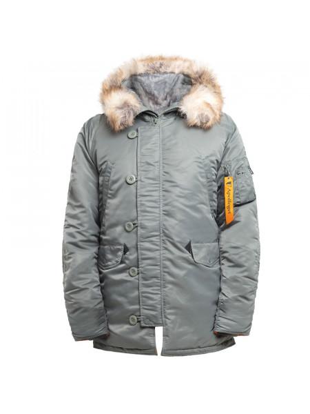 Куртка Аляска HUSKY LONG Olive/Orange Apolloget