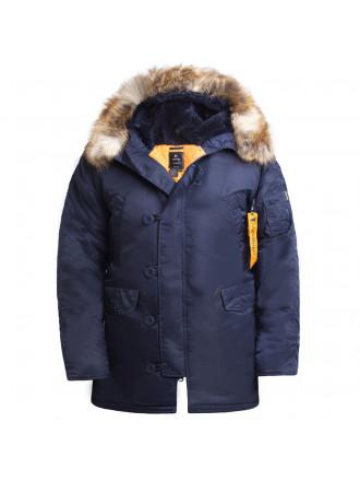 Куртка Аляска HUSKY LONG Repl Blue/Orange Apolloget