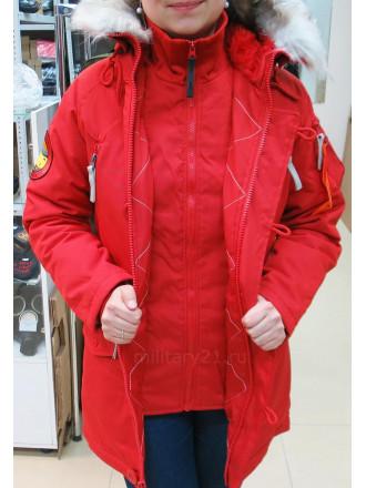 Куртка Аляска Женская Oxford Red Wine Apolloget