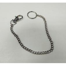 Цепочка с карабином и кольцом для удостоверения
