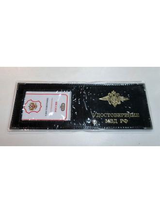Обложка на Удостоверение МВД Черная с окном