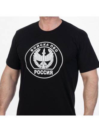 Футболка ПВО Эмблема Черная
