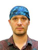 Бандана Синий Пиксель Вискоза