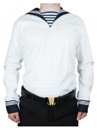 Фланка рубашка морская белая с гюйсом нового образца (ТУ 858-6149-2010)
