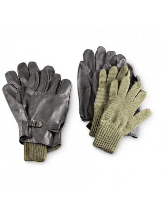 Перчатки Кожаные со Вставкой Бельгия