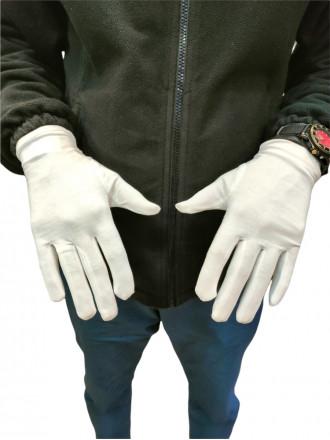 Перчатки Белые Парадные без Лучей Хлопок
