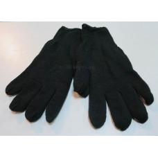 Перчатки черные вязаные