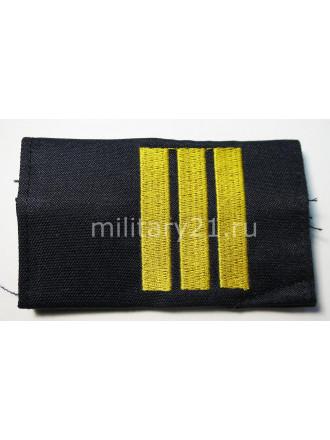 Фальш-Погоны Сержант Полиции Вышитые Темно-синие
