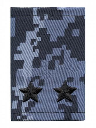 Фальш-Погоны Росгвардия ВОХР Синяя Точка Вышитые Черным Подполковник