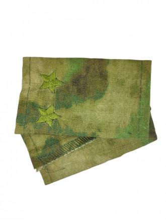 Фальш-Погоны МОХ Зеленый Вышитые Подполковник