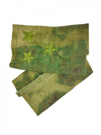 Фальш-Погоны МОХ Зеленый Вышитые Полковник