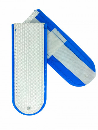 Погоны Белые (васильк. кант) Чистые Юстиция на Пластике