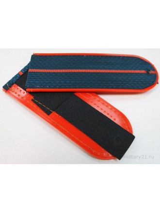 Погоны МЧС Серо-синие 1 Оранжевый Просвет Пластик