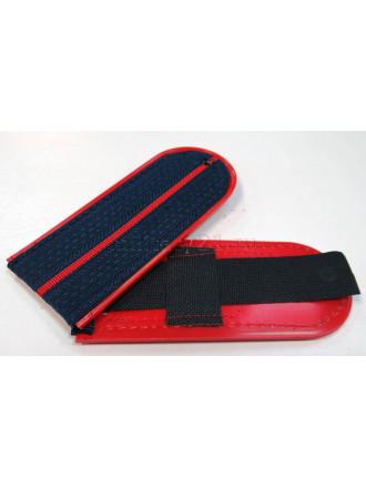Погоны Полиция Темно-синие 1 Красный Просвет 12 см на Пластике
