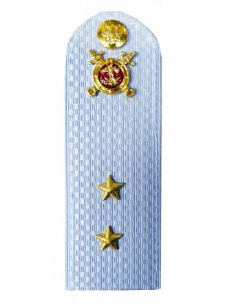 Погоны Полиции Прапорщик на Голубую Рубашку Пластик Укомплектованные