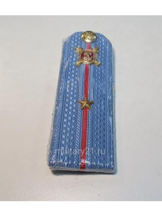 Погоны Полиции Младший Лейтенант на Голубую Рубашку Укомплектованные