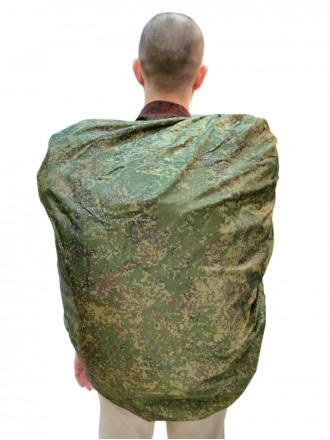 Накидка на Рюкзак Зеленый Пиксель 30-50л