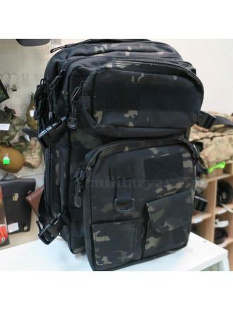Рюкзак Тактический с 2 подсумками черный мультикам