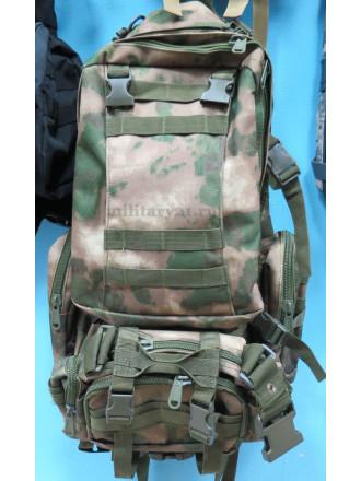 Рюкзак Military Combat 50 л 3 Подсумка Тактический Мох