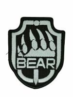 Нашивка BEAR ЛАПА 65х80мм на Липучке